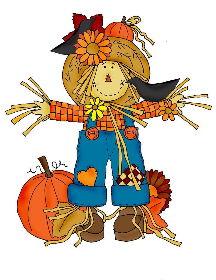 Printable Scarecrow Clip Art.
