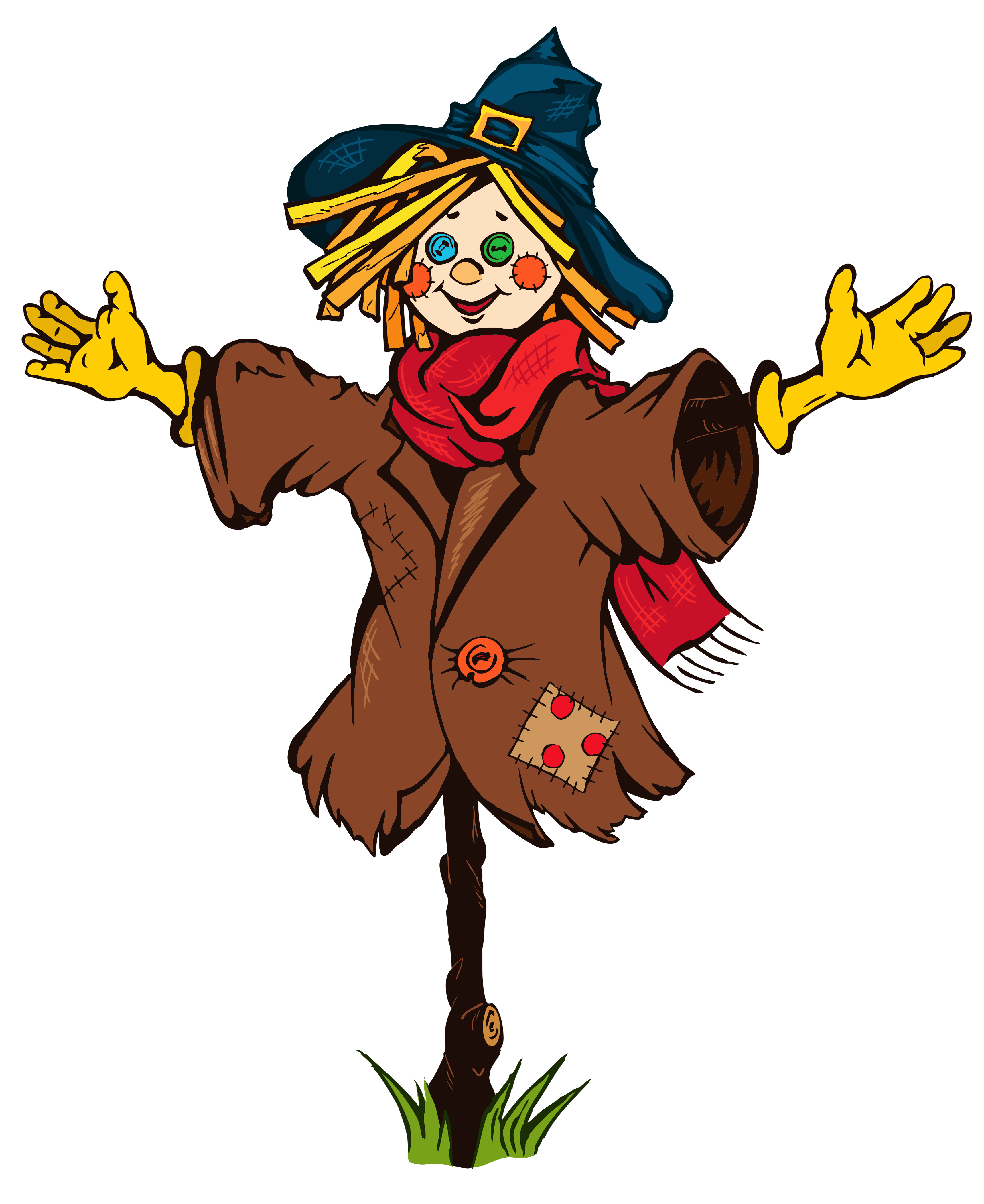 Transparent Scarecrow PNG Clipart Picture.