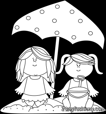 My Cute Graphics Summer Black And White Clipart.