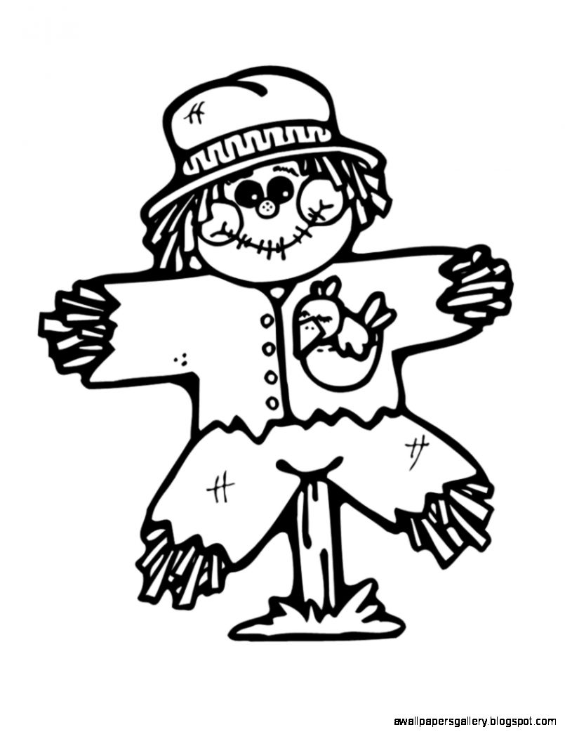 Black And White Scarecrow Clipart.