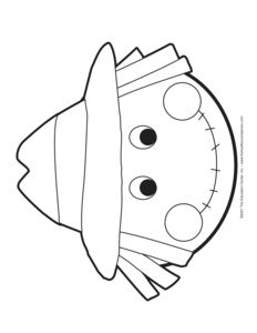 Scarecrow Mask Colouring Pages Bj5gdg Clipart.