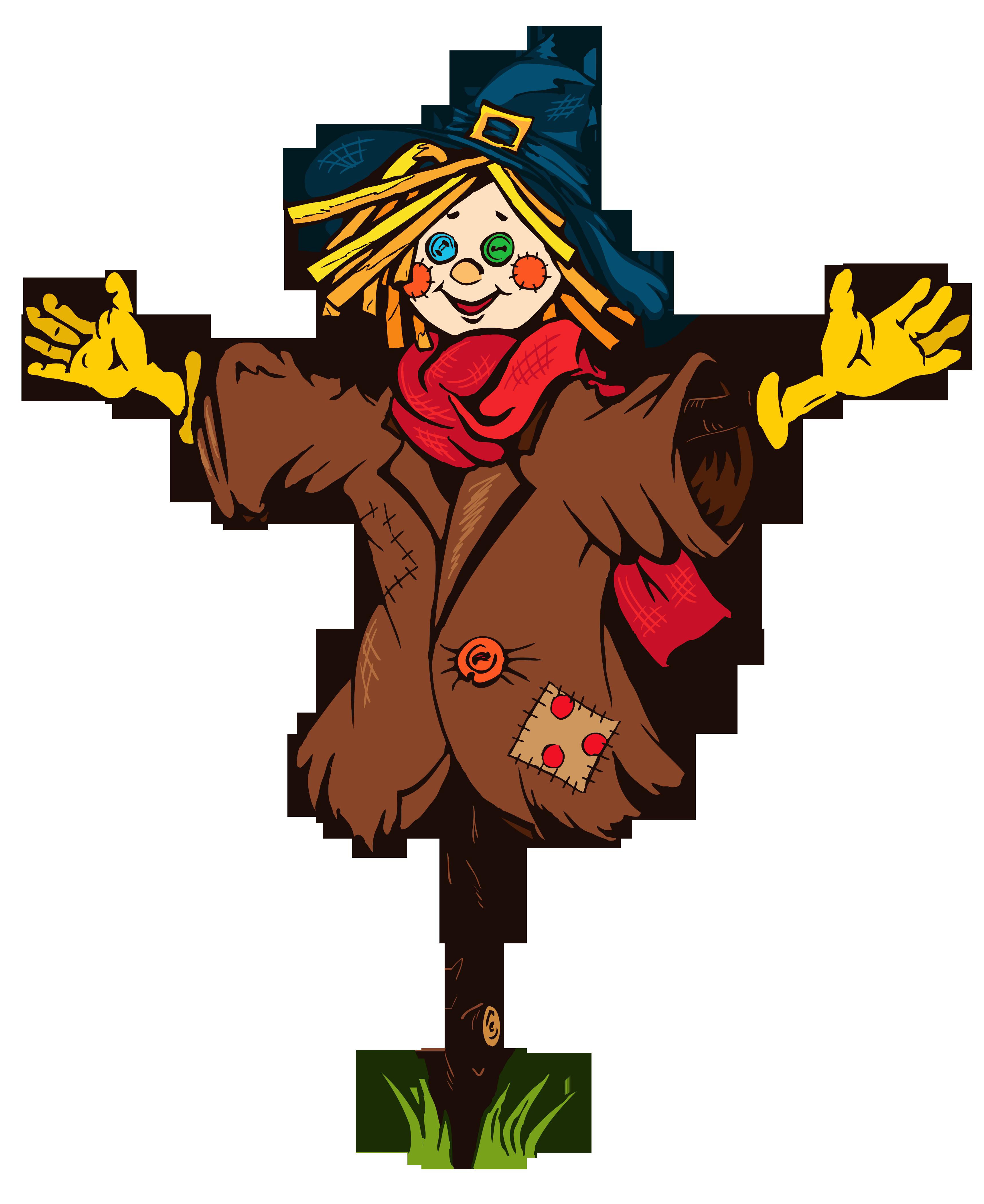 Transparent Scarecrow PNG Clipart Picture.