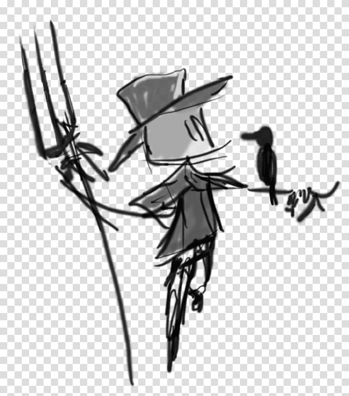 Drawing Line art Visual arts , scarecrow logo transparent.