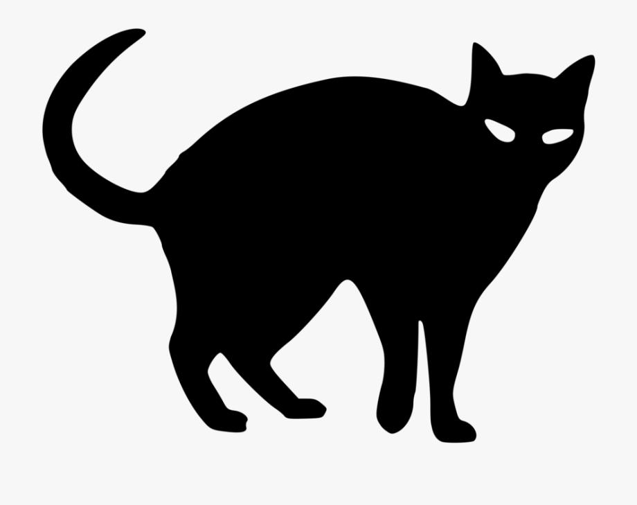 Tuxedo Cat Clipart Silhouette.