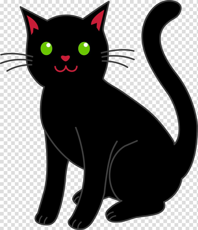Kitten Bombay cat Black cat , black cat transparent.