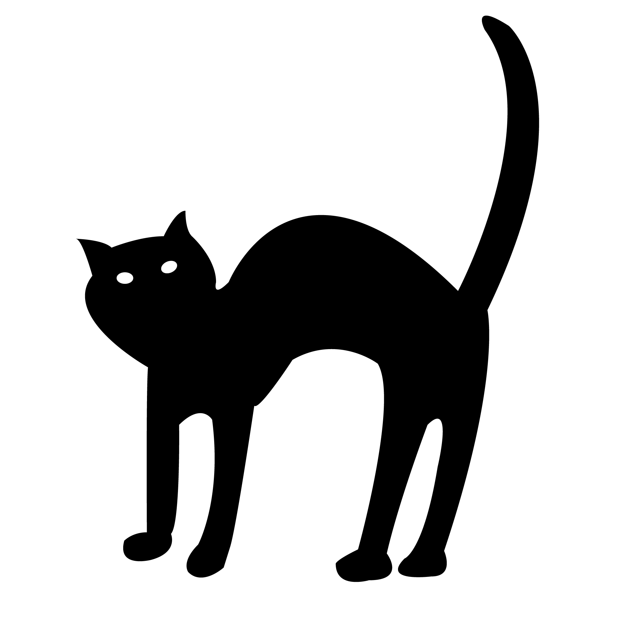 Free Black Cat Clipart 2 Pictures.
