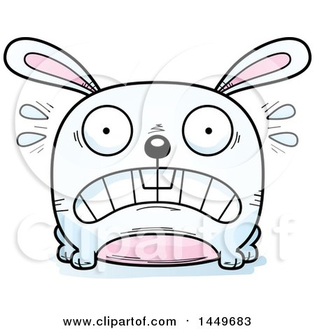 Scared Bunny Clipart.