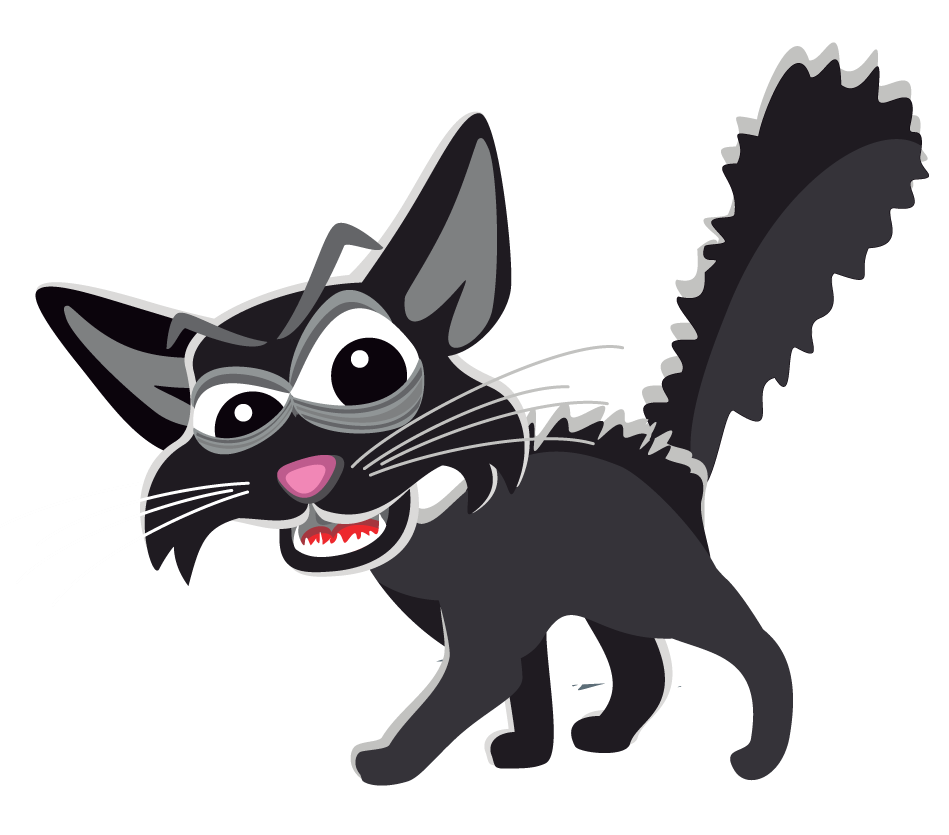 Scared Cat Clip Art.