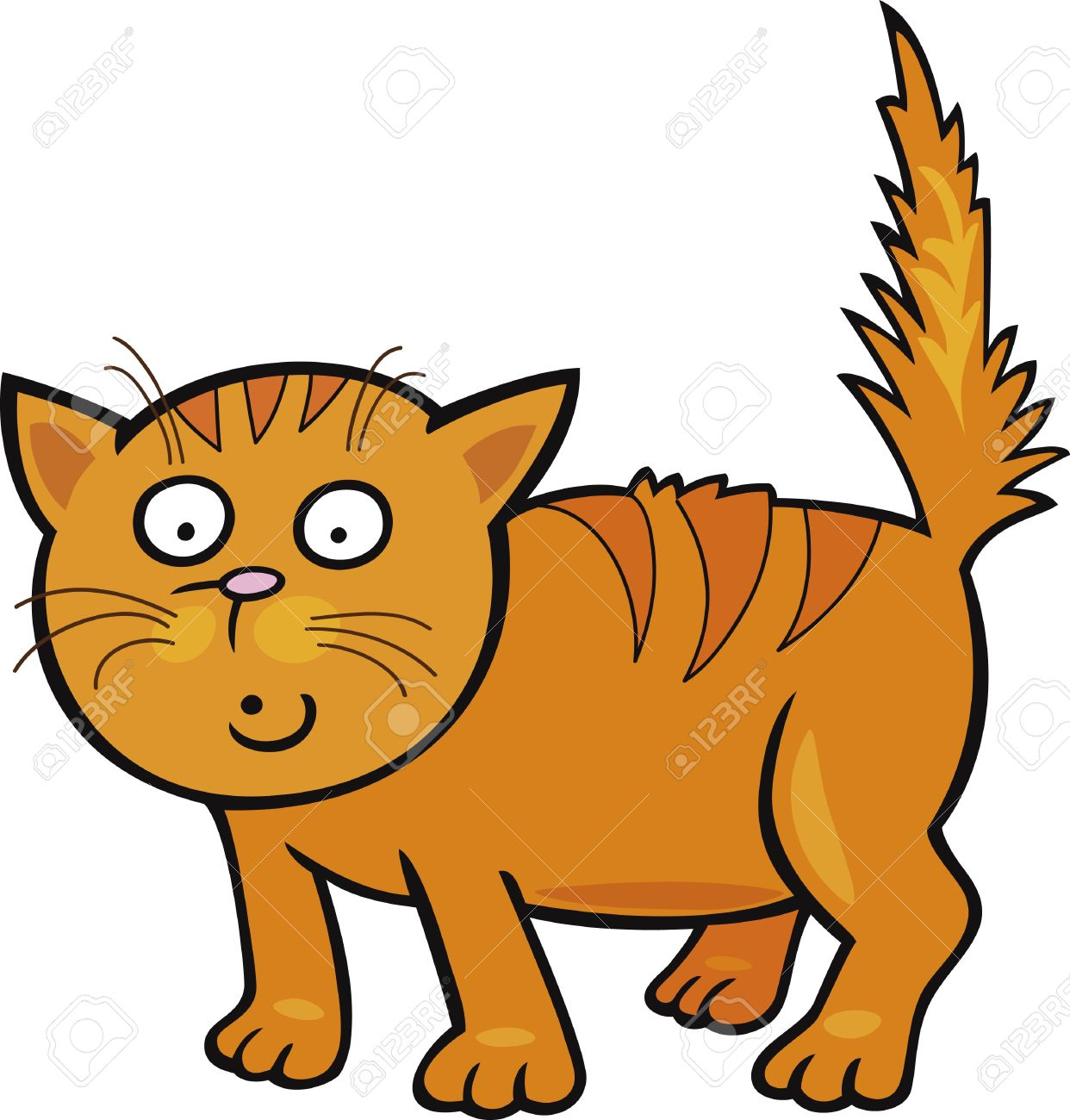 Scared Cat Clipart.
