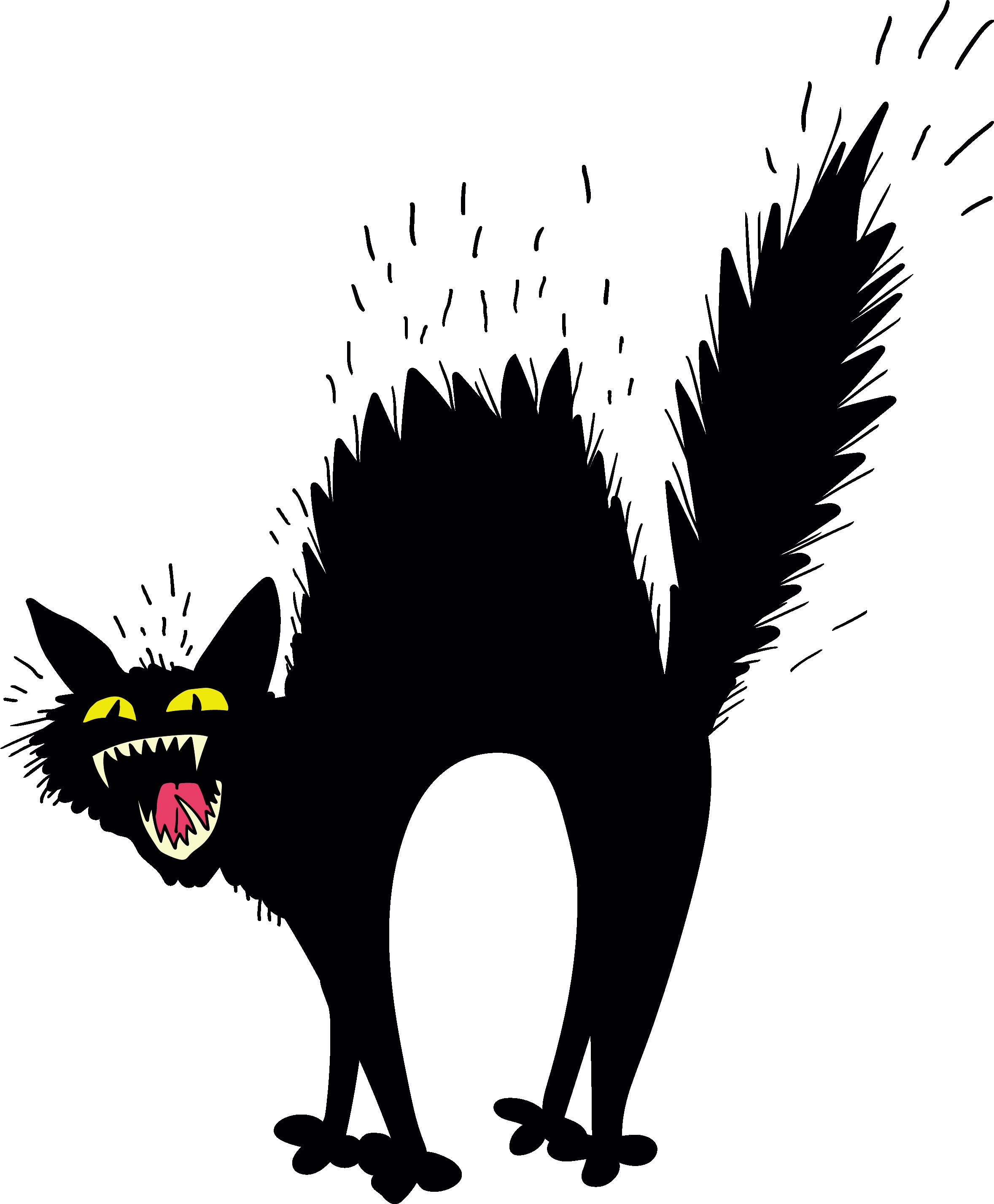 In Clip Art Of A Scary Cat Scared Black Clipart 15.