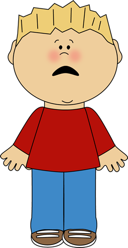 Scared Boy Clipart.
