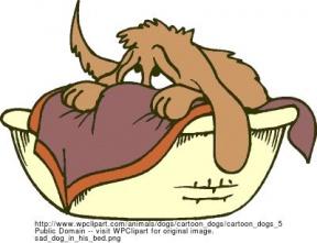 Shy Dog Cliparts.