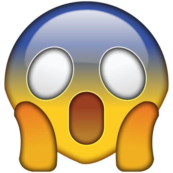 Scared Emoji Clipart.