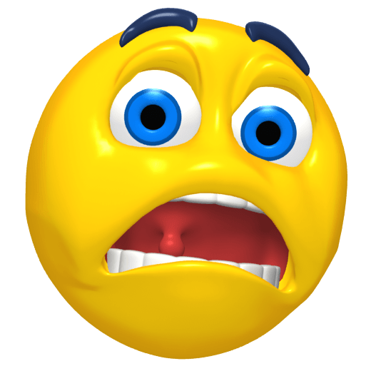 Emoticon Scared transparent PNG.
