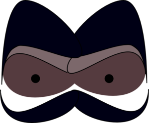 Scary Eyes With Mustache Clip Art at Clker.com.