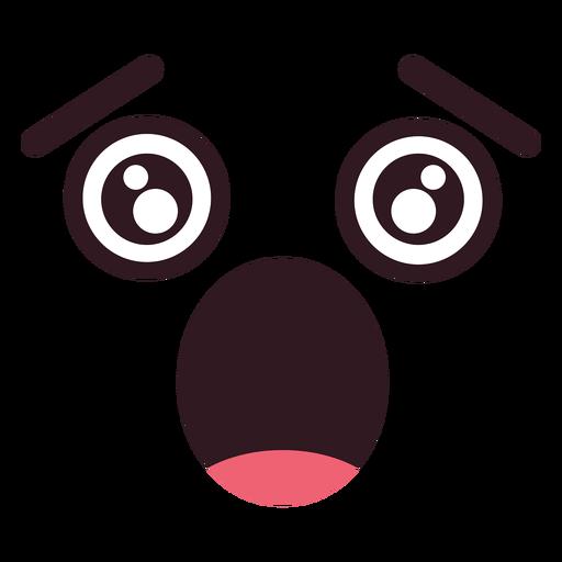 Simple scared emoticon face.