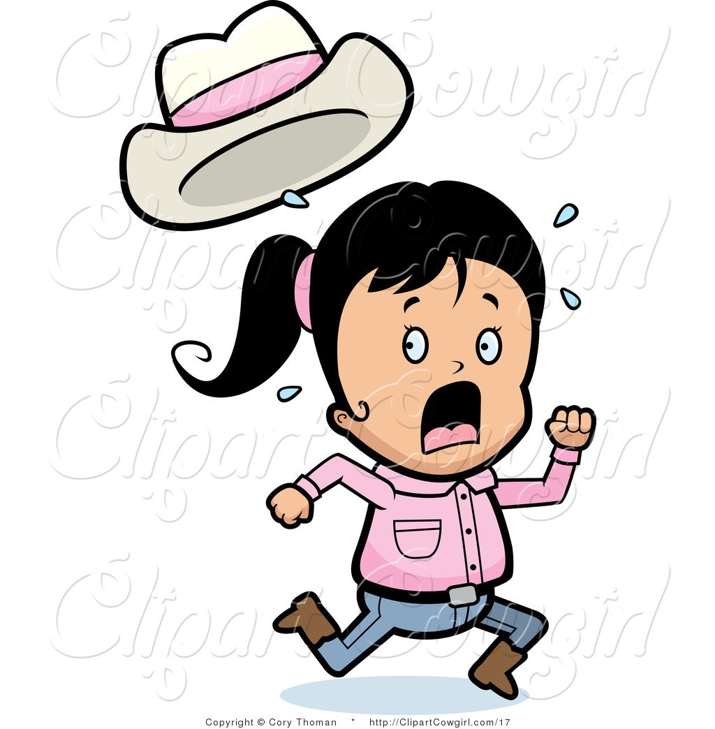For Clipart Of Running Scared Girl 1.