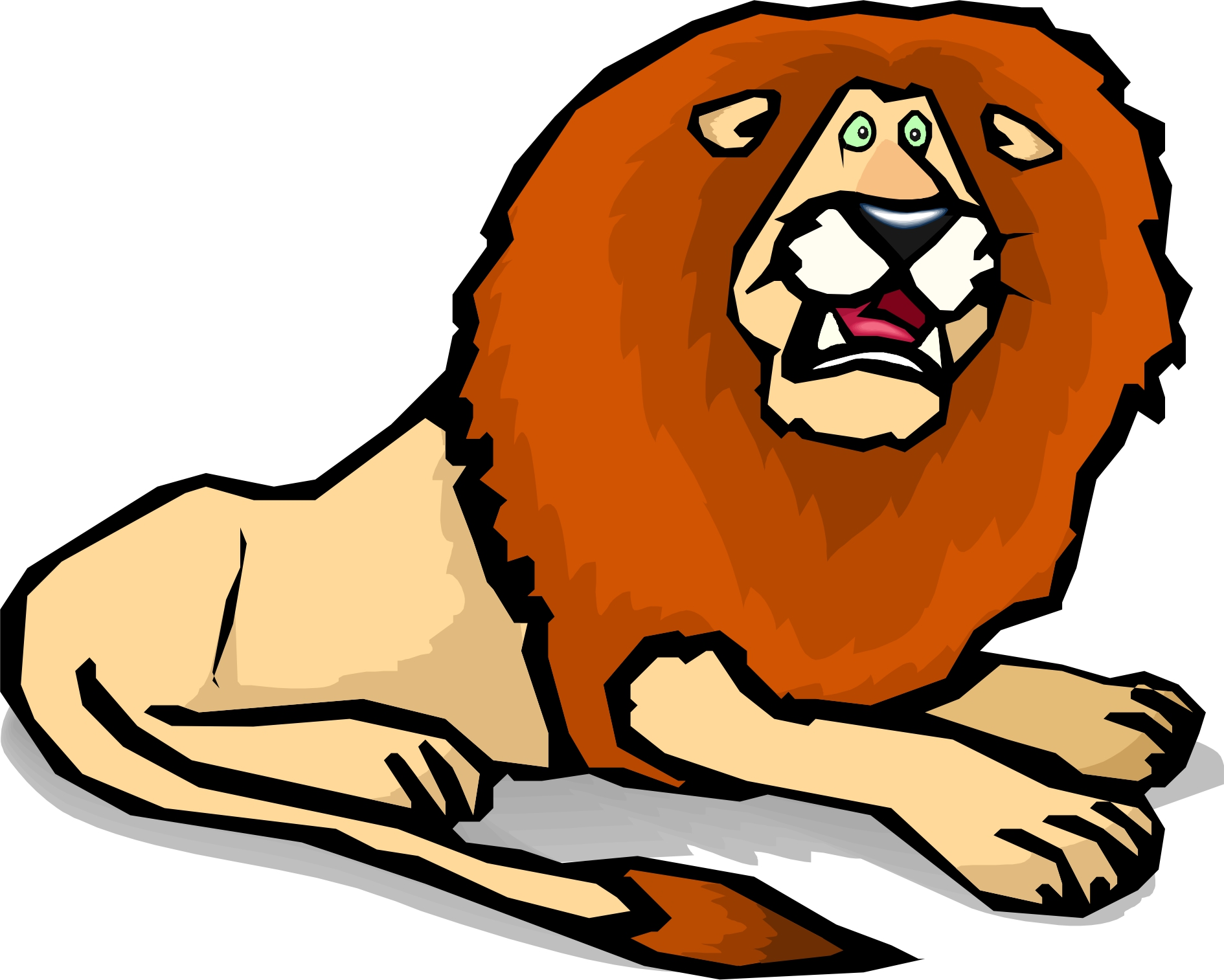 Scary lion clipart.