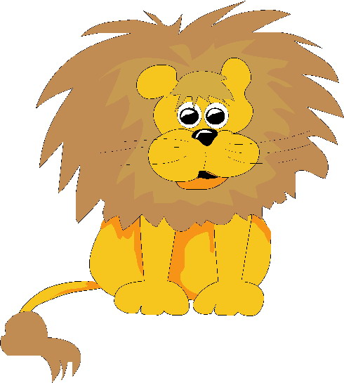 Scary Baby Lion Clipart.