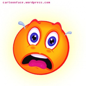 Scary Face Clipart.