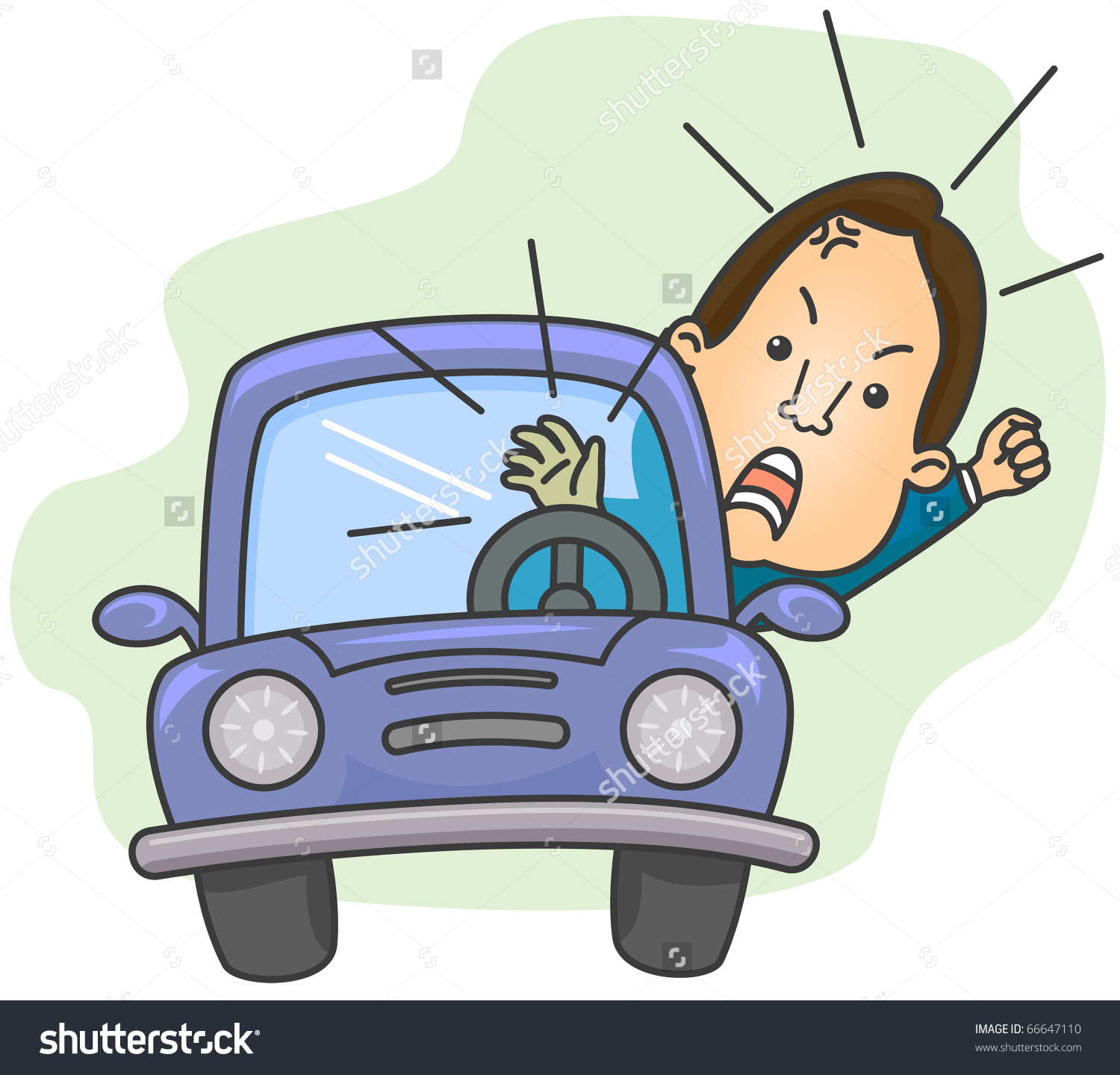 Jumping At The Sound Of A Car Horn Clipart.