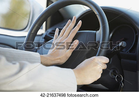 Scared at the sound of a car horn clipart.