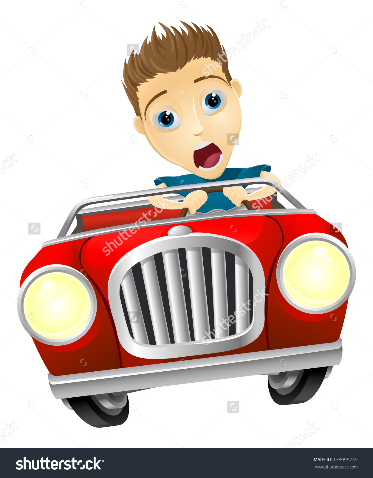 Showing post & media for Scared car cartoon.
