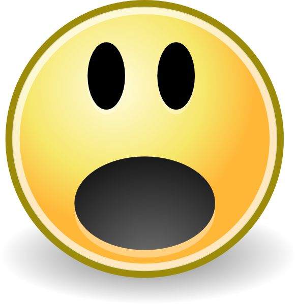 Smiley face emotions on emoji faces clip art and scared face.