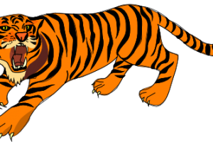 Tiger Clipart Black And White #7311 with regard to Tiger.