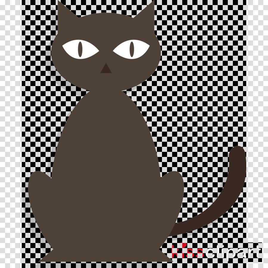 halloween black cats scaredy cat clipart.