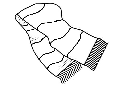 Scarf Clipart Black And White.