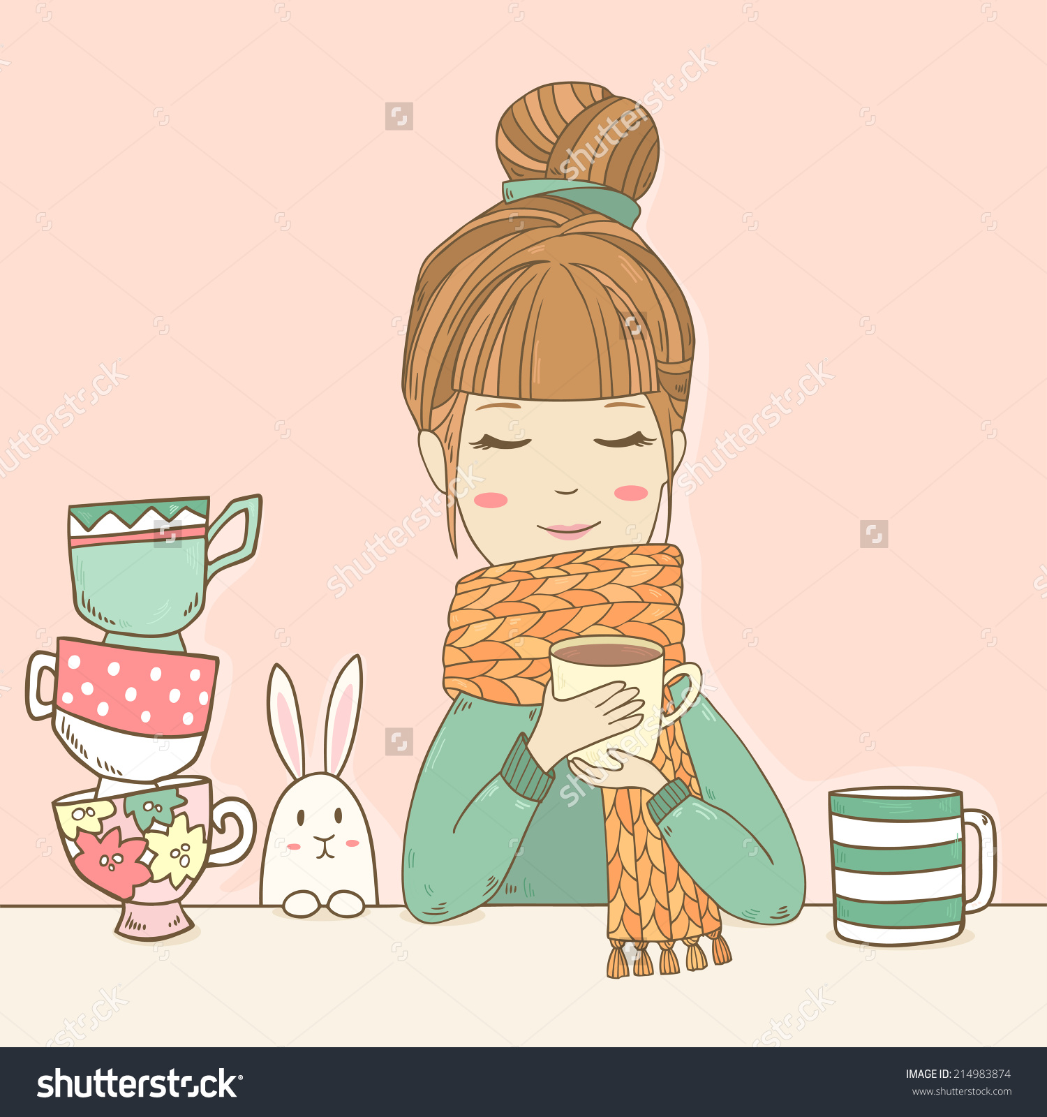 Showing post & media for Cartoon with scarf and sweater.