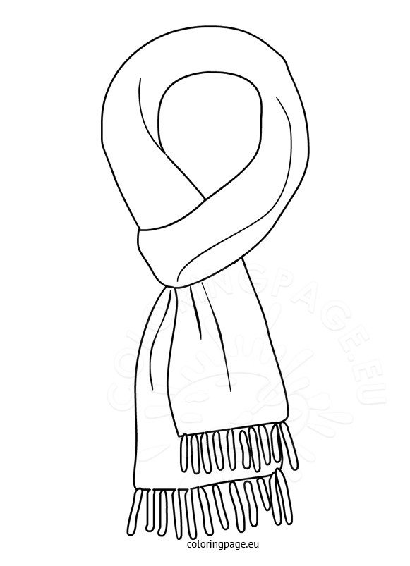 Scarf clipart black and white 7 » Clipart Station.
