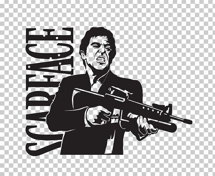 Al Pacino Tony Montana Scarface Wall Decal Sticker PNG.