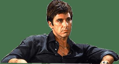Al Pacino Scarface transparent PNG.