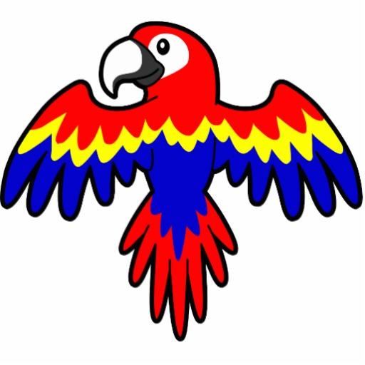 Scarlet Macaw Parrot Clip Art.