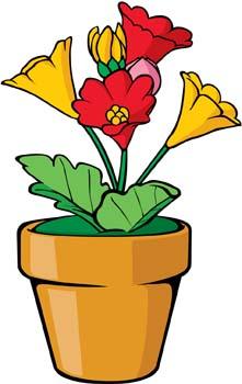 The Scarlet Flower 7 clip arts, free clip art.