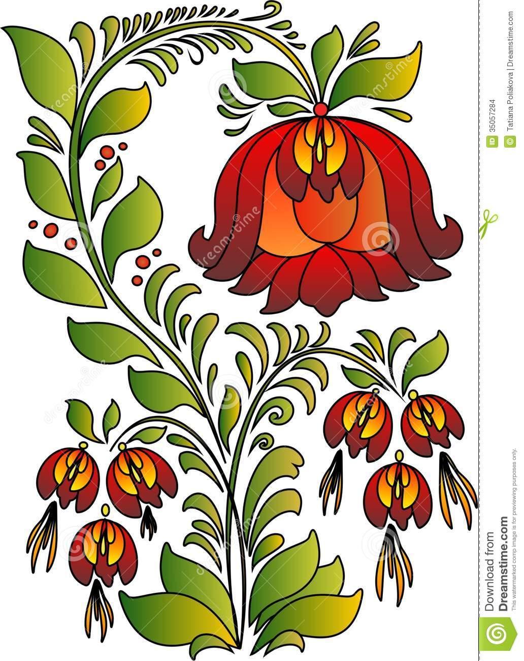 Scarlet Flower Stock Images.