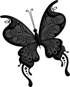 Blue Colorful Butterfly PNG Clip Art Image.