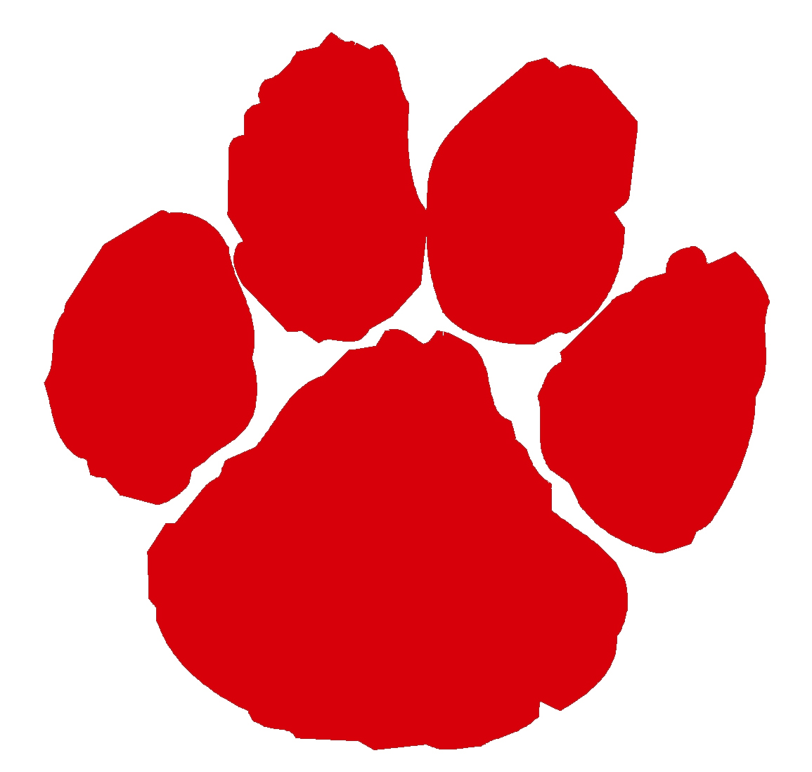 Red Paw Clipart.