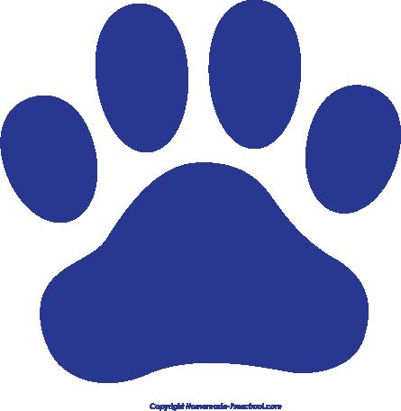 Blue Bulldog Paw Clipart.