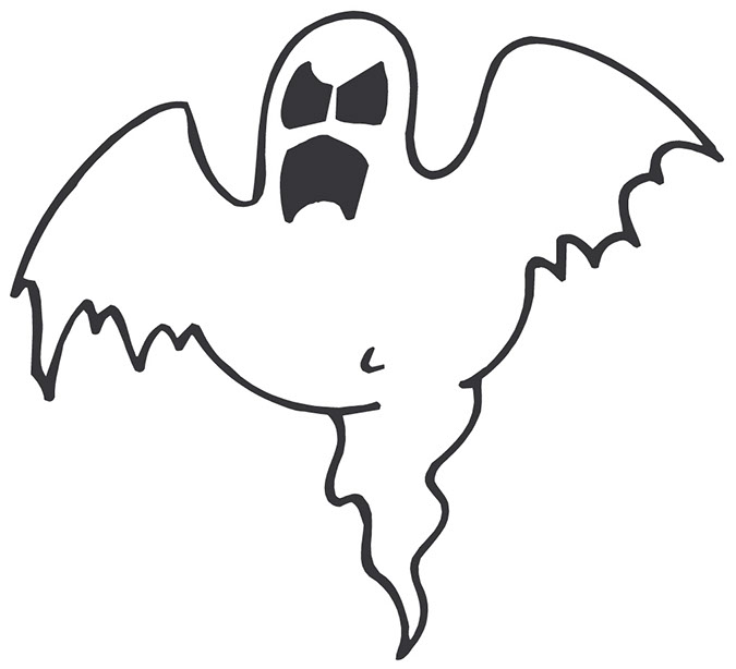 Halloween scary ghost clipart.
