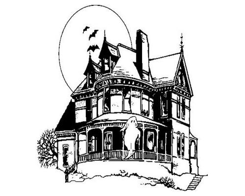 Haunted House Clipart Black And White & Haunted House Black And.
