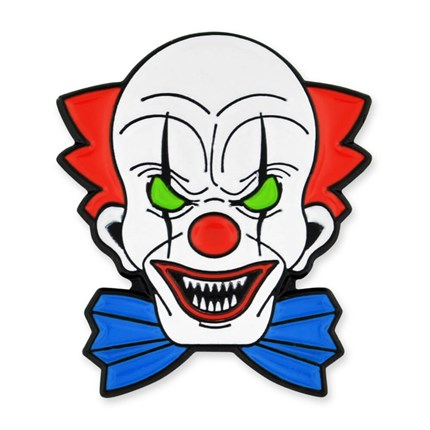 Scary Clown Pin.