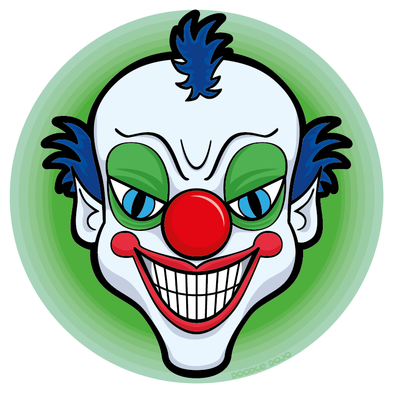 Scary clown clipart clipart images gallery for free download.