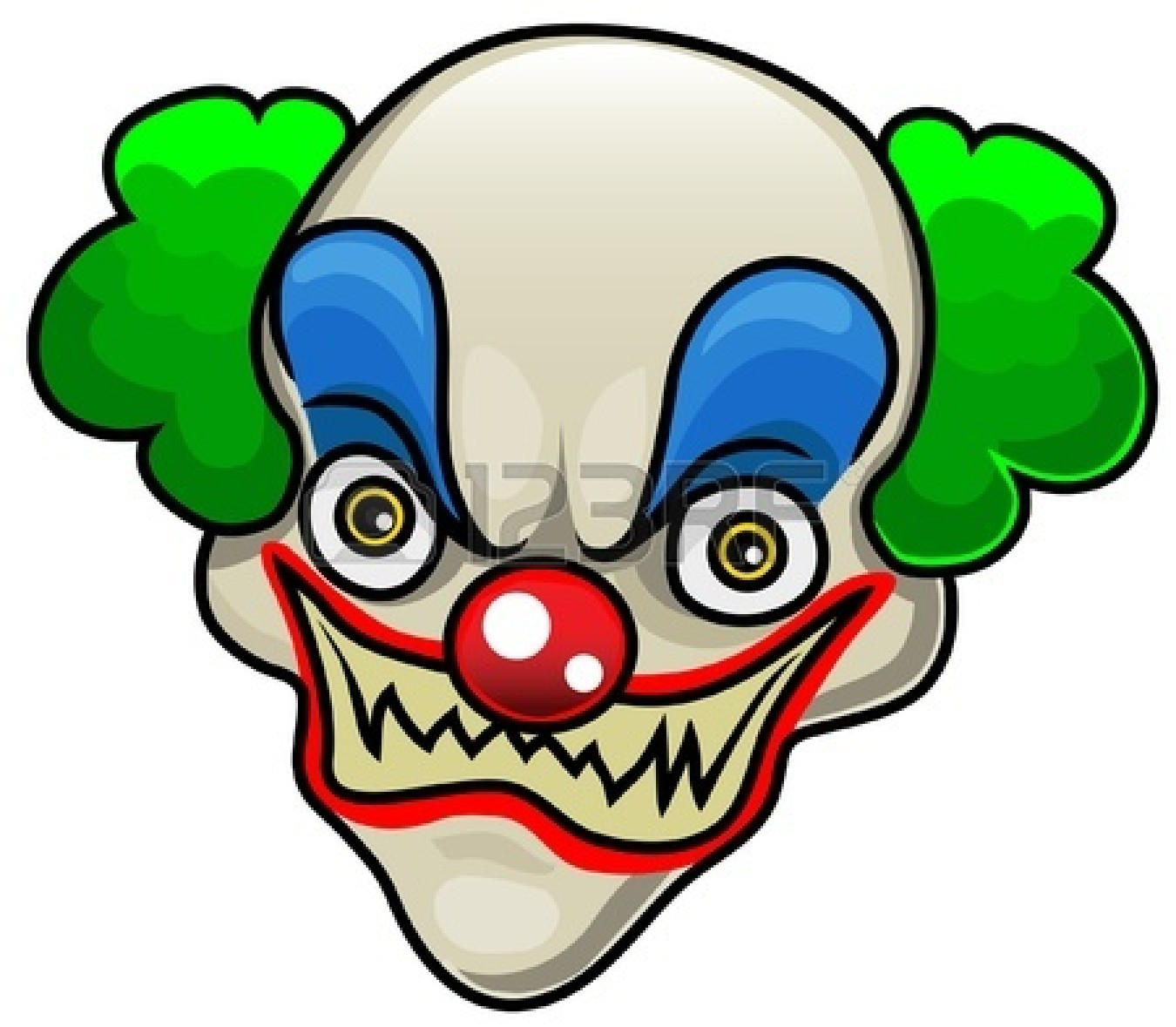 scary clowns clipart #6