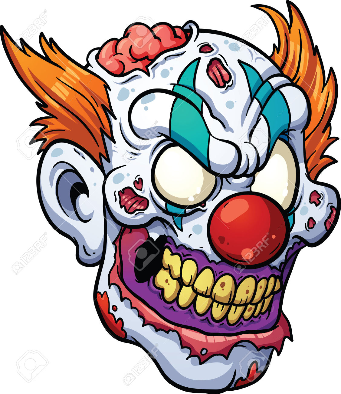 76+ Scary Clown Clipart.