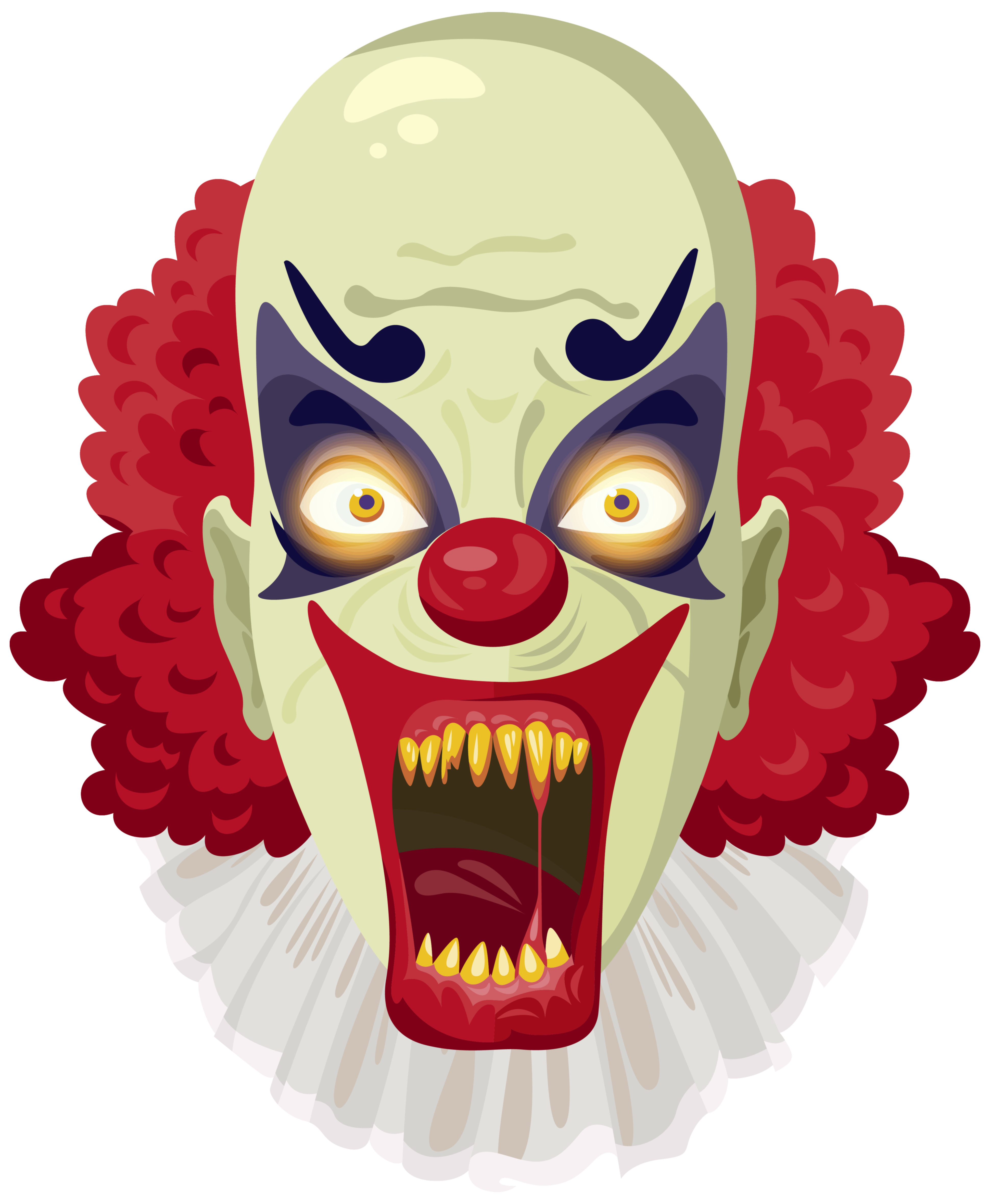 Scary Clown PNG Clipart Image.