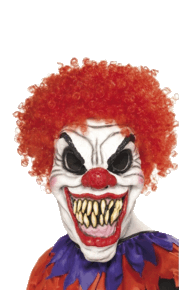 Scary Clown Halloween transparent PNG.