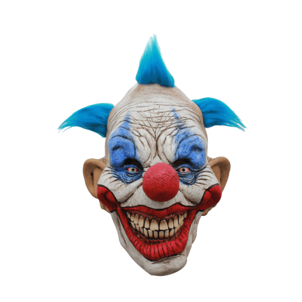 Scary Clown Mask Halloween transparent PNG.